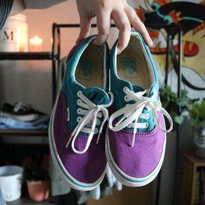 Skatergirl Two-Tone Cute Trendy Blue & Purple Vans